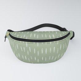Raindrop Boho Abstract Pattern, Sage Green Fanny Pack