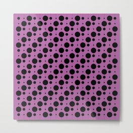 Black Pearls on Radiant Orchid - Baby Stimulation Pattern Metal Print