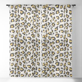 Leopard Print - Mustard Yellow Sheer Curtain