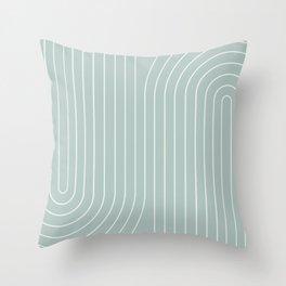 Minimal Line Curvature - Sage Throw Pillow