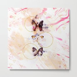 Abstract butterflies Metal Print