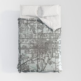 Gainesville, FL, USA, City Map Comforters