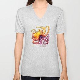 Octopus Sunrise Unisex V-Neck