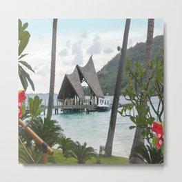 Bora Bora Tahiti Boat Landing Metal Print