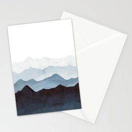 Indigo Mountains Landscape Stationery Cards