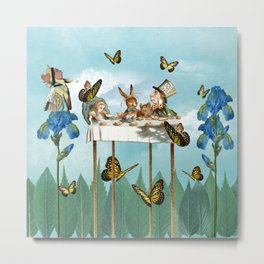 A Day in Wonderland - The Tea Party Metal Print