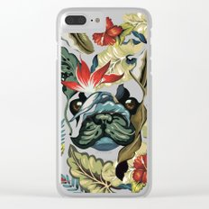 Tropical Frenchie Clear iPhone Case