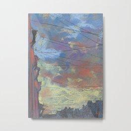 Sunset from my window Metal Print