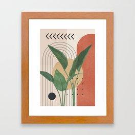 Nature Geometry V Framed Art Print