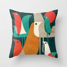 Flock of Birds Throw Pillow