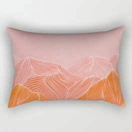 Lines in the mountains - pink II Rectangular Pillow