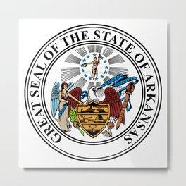 State Seal of Arkansas Metal Print