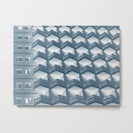 modern apartments - blue Metal Print