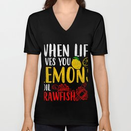Lemons Crawfish Freshwater Lobster Tee Unisex V-Neck