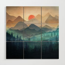 Wilderness Becomes Alive at Night Wood Wall Art