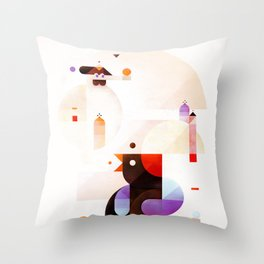 Bubble dreamers Throw Pillow