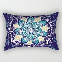 Yoga Blue Mandala Rectangular Pillow