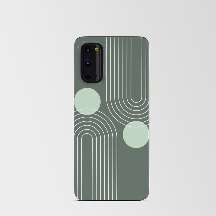 Mid Century Modern Geometric 63 (Rainbow and Sun Abstraction) Android Card Case