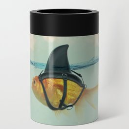 Brilliant DISGUISE - Goldfish with a Shark Fin Can Cooler