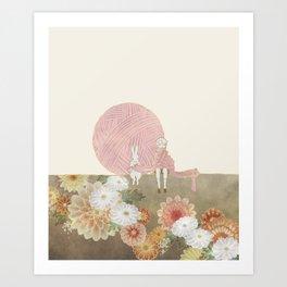 long scarf (sun) Art Print