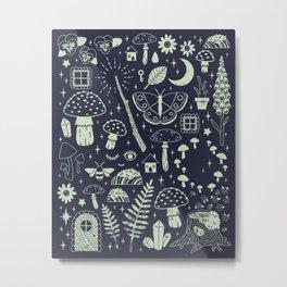 Fairy Garden: Midnight Metal Print