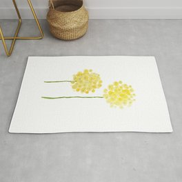 two abstract dandelions watercolor Rug