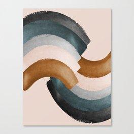 Brushstroke rainbows Canvas Print