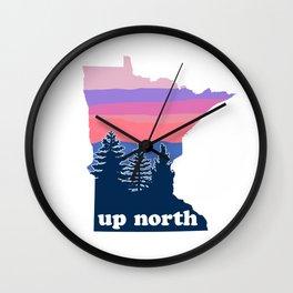 Up North Minnesota Blush Sunset Wall Clock