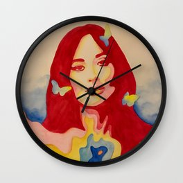 You Give Me Butterflies Spacey Kacey Wall Clock