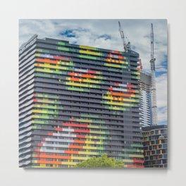 Colourful City Building Metal Print