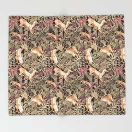 Wild life pattern Throw Blanket