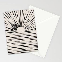 Minimal Sunrise / Sunset Stationery Cards