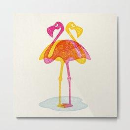 Angry Animals - Flamingobrella Metal Print