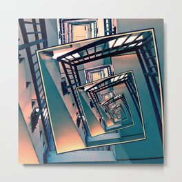 Infinite Spinning Stairs Metal Print