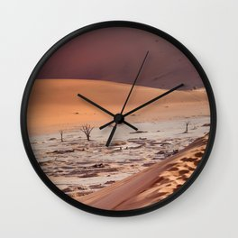Leave only foortprints Wall Clock