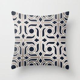 Silver pattern 2 Throw Pillow
