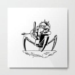 Powmozz the Great Halfling Warrior Engineer Metal Print