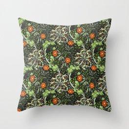 William Morris Red Seaweed Pattern Throw Pillow