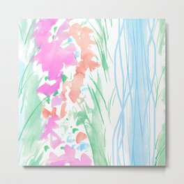 watercolor stripe Metal Print