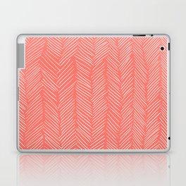 Living Coral Herringbone Happiness Laptop & iPad Skin