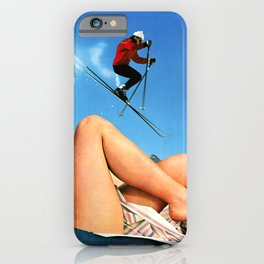 Skiing Time! iPhone Case