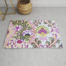 Painted Antique French Pattern Recolored Rug