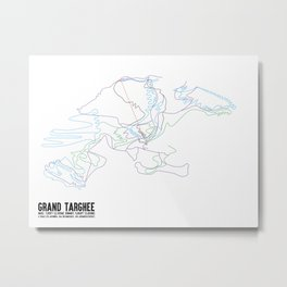 Grand Targhee, WY - Minimalist Summer Trail Art Metal Print