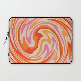 70s Retro Swirl Color Abstract Laptop Sleeve
