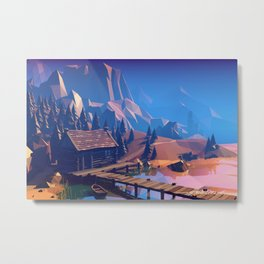 Boat Trip II - The Ruins Metal Print