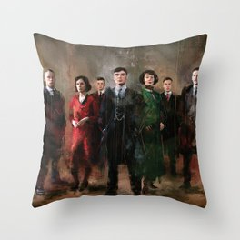 Shelby family Throw Pillow