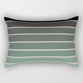 Gradient Arch - Green Tones Rectangular Pillow