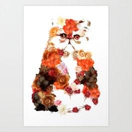 Portrait cute little kitten t-shirts Art Print