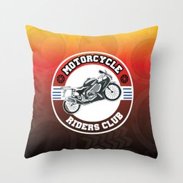 Motorcycle Riders Club Throw Pillow