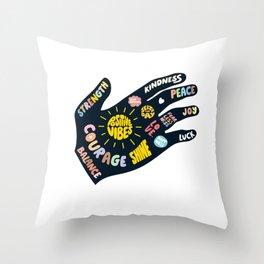 Positivity – Helping Hand Throw Pillow